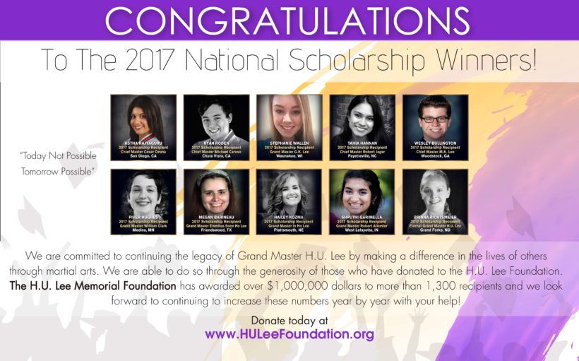 2017 H. U. Lee Foundation Schoolarship Winners